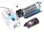 600W water cooled high pressure sodium light, reflector and overload protection interface.