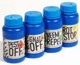 Pest Off, Fungus Gnat Off, Bud Rot Stop, Neem Repel, and Nite Nite Spider Mite.